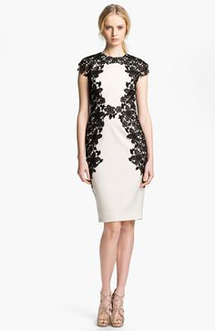 Lace Applique Sheath Dress