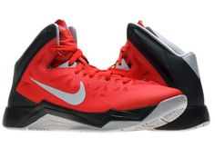 sports shoes b4834 d1508 Nike Zoom Hyperquickness Men s Basketball Shoes Size 10.5, University  Red Wolf Grey-Black
