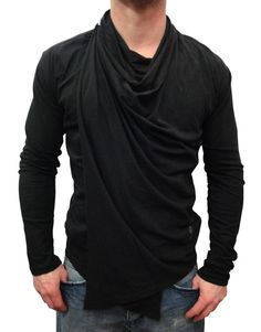 Religion Clothing Addisian Jacket Black (B212ADF55)...awesome wrap front drape top