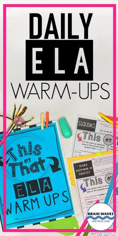 Make the start of class engaging and meaningful with this collection of daily ELA bell ringers. These 20 Daily ELA Warm-Ups are a great way to start each class! Use them as bell ringers, morning work, or even put them together into a bell ringer journal! Not only are they Common Core aligned, they're also incredibly engaging and motivating for students. They require no prep! Just print and go! (Includes PDF and Google-Classroom compatible resources.) All About Me Activities, Back To School Activities, Google Classroom, School Classroom, 6th Grade Ela, Bell Ringers, Middle School Reading, Morning Work, Math Lessons