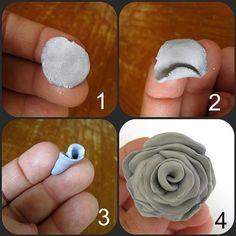 Rose selber kneten in vier Schritte
