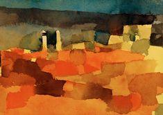 1915 Bild: Paul Klee - Auf eine Scizze aus Sidibusaid