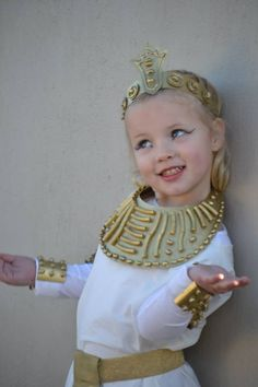 (DIY Egyptian jewellery and headress - cardboard noodles beans glue and gold paint)  sc 1 st  Pinterest & Egyptian princess costume. Handmade from household items: pillow ...