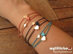 Dainty Bracelets #lovely #colors #heart #diy