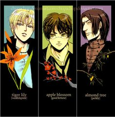 hp- deathly hallows bookmarks by ~chupachup