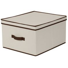 For Gift bags and boxes, get the back closet under control. Household Essentials Jumbo Storage Box, Natural Canvas with Brown Trim Household Essentials,http://www.amazon.com/dp/B004DVTSSW/ref=cm_sw_r_pi_dp_S9YWsb0ARVT2JTNS