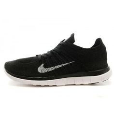 Nike Free 4.0 Flyknit Homme Noir Blanc Chaussures