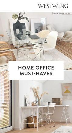 Von zuhause aus arbeiten hat viele Vorteile: Wir können unseren Tagesablauf selbst bestimmen, haben viel Freiraum für Kreativität und müssen keine langen Wege zum Arbeitsplatz auf uns nehmen. Und das Beste für alle Interior-Fans: Wir dürfen unser Office ganz nach unserem eigenen Geschmack einrichten! Wir sind ja bekanntermaßen am produktivsten, wenn wir uns wohl fühlen und uns konzentrieren können./Westwing Home Office Büro Zuhause arbeiten modern Arbeitsplatz Schreibtisch Idee Inspiration 2021 Modern, Design, Inspiration, Home Decor, Workplace, Benefits Of, Table Desk, Deco, Biblical Inspiration