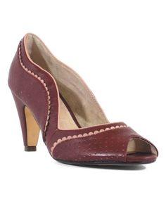 a524d112320 This Burgundy Shana Pump - Women is perfect!  zulilyfinds Soft Leather