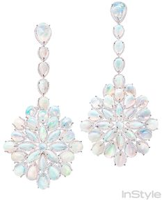 Get Up Close & Personal With 2014 Oscar Jewels - CATE BLANCHETT'S Chopard Opal, Diamond and Gold Earrings from #InStyle