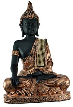 Hand Carved Meditating Lord Buddha Resin Idol Sculpture Statue with Zircons - Inches Gautam Buddha Image, Buddha Gifts, Buddha Zen, Indiana, Pooja Rooms, Gods And Goddesses, Hand Carved, Religion, Meditation