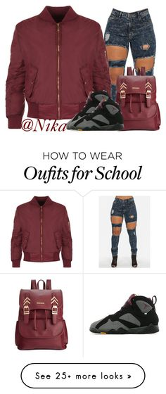 """""""School"""" by liveitup-167 on Polyvore featuring Rampage, WearAll and Retrò"""