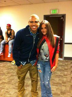 Chris Brown with Paris Jackson in her Thriller Jacket. (2011)