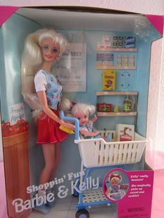 1995 Shoppin' Fun Barbie & Kelly #15756