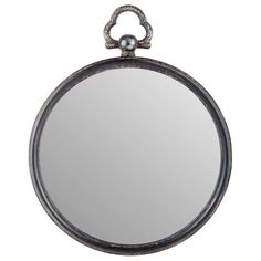 Get Round Antique Black Metal Mirror with Top Handle online or find other Wall… Wall Mirror Online, Wall Mirrors, Entryway Wall, Beautiful Mirrors, Metal Mirror, Print Coupons, Galvanized Metal, Shades Of Black, My New Room