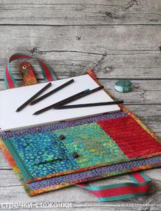 строчки-стежочки : Папка-органайзер для юного художника.