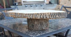Tree Trunk cake stand :) Fall Wedding Decorations, Receptions, Banquet, Harvest, Centerpieces, Parties, Rustic, Cake, Ideas