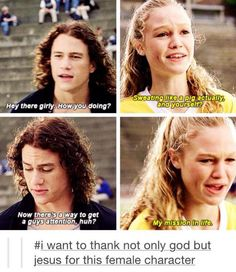 This movie is definitely in my top 10... Things I hate about you.... I am just super depressed that Heath Ledger had to go and die. :(
