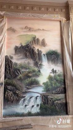 Texture Painting, Painting & Drawing, Plaster Art, Diy Canvas Art, Art Tutorials, Watercolor Art, Art Drawings, Paintings, Wall