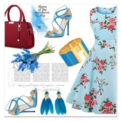 """Azure"" by nerma10 ❤ liked on Polyvore featuring Jimmy Choo and vintage"