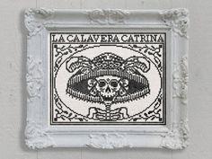 La Calavera Catrina: A Day of the Dead Cross Stitch Embroidery Chart - PDF Pattern Booklet