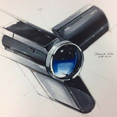 """좋아요 33개, 댓글 2개 - Instagram의 @jaewookkim_님: """"캠코더 스케치&렌더링 #캠코더 #skeren #sketch #그림"""""""