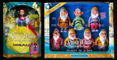 Snow White and The Seven 7 Dwarfs Disney Dolls Barbie Colors Change in Water | eBay