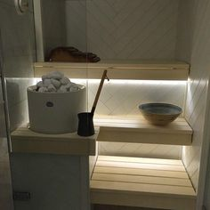 Cozy Sauna Shower Combo Decorating Ideas - Page 13 of 32 Portable Steam Sauna, Sauna Steam Room, Sauna Room, Bathroom Spa, Bathroom Interior, Scandinavian Saunas, Sauna Lights, Electric Sauna Heater, Sauna Shower