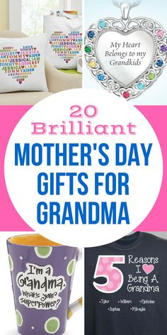 Mother's Day Gifts for Grandma 2018 - Top 20 Gift Ideas Mother's Day Gifts for Grandma - Show Grandma how much you love her this Mother's Day with the perfect Mother's Day gift. Homemade Mothers Day Gifts, Mothers Day Gifts From Daughter, Unique Mothers Day Gifts, First Mothers Day, Mother Day Gifts, Gifts For Mom, Mother's Day For Grandma, Presents For Grandma, Grandma Gifts