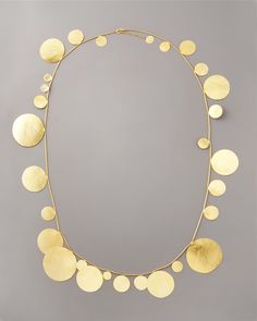 Disc Necklace by Herve Van Der Straeten