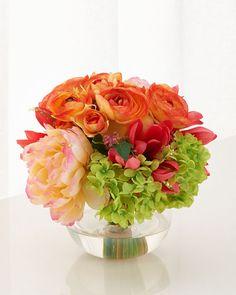 H899R John-Richard Collection French Bouquet Faux-Floral Arrangement