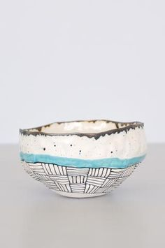 Speckled Bowl - Blue by Suzanne Sullivan