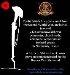 Fallen Heroes of Normandy Fact Sheet No.1 British Army www.fallenheroesofnormandy.org