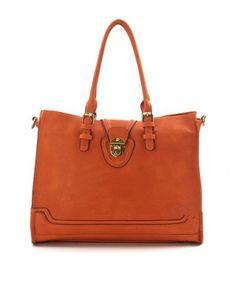 Minimal Belt Embellished Tote Bag