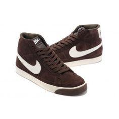 c3ad0966eaf338 Ausgang Nike SB Blazer II Mid Männer Schuhe Dunkelbraun Weiß Schuhe Günstig