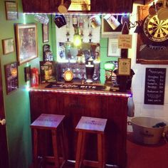 Shenanigans, Pub/Entertainment from Garden owned by Darren Man Cave Ideas Uk, Man Cave Diy, Man Cave Home Bar, Diy Garden Bar, Garden Ideas, Summer House Interiors, Petits Bars, Man Cave Lighting, Pub Sheds