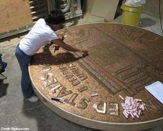 Inspiring ideas for Canadian penny art piece