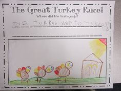 Use with the book The Great Turkey Race