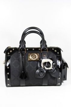 Versace Handbags Back Canvas and Leather DBFB717