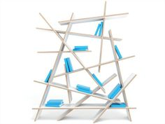 Estante de madeira compensada CRASH by Sixinch   design Rainer Mutsch