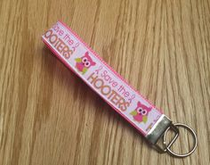 Key Fob  Breast Cancer  Key Chain  Keychain  Pink by Sewing4Babies