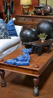 Blue and teak wood Tierra Del Lagarto - Scottsdale Furniture Store
