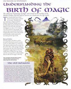 Understanding the birth of magic