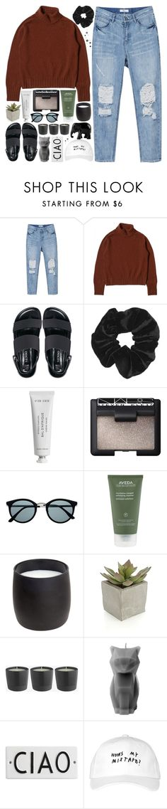 """""""santa tell me"""" by a-dventurous ❤ liked on Polyvore featuring Senso, Topshop, Byredo, NARS Cosmetics, Retrò, Aveda, H&M, Crate and Barrel, PyroPet and Rosanna"""