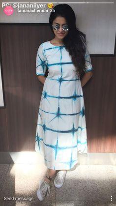 Simple Kurti Designs, Kurta Designs Women, Kurti Neck Designs, Blouse Designs, Churidar, Anarkali, Western Dresses For Girl, Frocks And Gowns, Tie Dye Dress