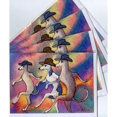 Greyhound Whippet Cards by Susan Allison Art