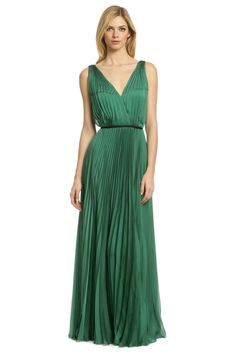 Evergreen Pleat Gown