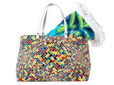Plaj keyfi �antas�z olmaz Black Leather Handbags, Printed Tote Bags, Straw Bag, Swimsuits, Bikini, Summer, Prints, Colorful, Fashion