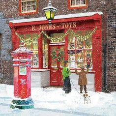 Vintage Christmas Images, Old Fashioned Christmas, Christmas Scenes, Christmas Past, Victorian Christmas, Christmas Pictures, Christmas Greetings, Winter Christmas, Xmas