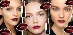 Bordowe usta – tak zrobisz makijaż Lipstick, Beauty, Lipsticks, Beauty Illustration